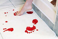 Коврик в ванную комнату для душа Кровавые Следы Психо