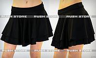 Мини юбка со складками
