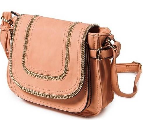 Женская чудесная классическая сумка искусственная кожа Bretton D-729-1 pink