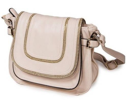 Женская прекрасная классическая сумка искусственная кожа Bretton D-729-1 beige