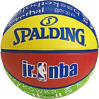 Мяч баскетбольный резиновый №5 SPALDING 83047Z NBA JUNIOR (резина, бутил, разноцветный)