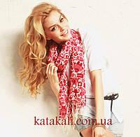 Подростковый шарф с бахромой