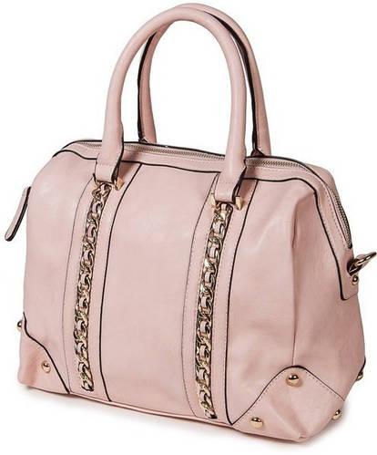 Женская удивительная классическая сумка искусственная кожа Bretton D-725-1 pink