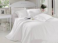 Постельное белье с покрывалом Пике Cotton Box белый