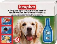 Beaphar (Беафар) Капли против паразитов для собак крупных пород Canigvard Spot On 6п*4мл