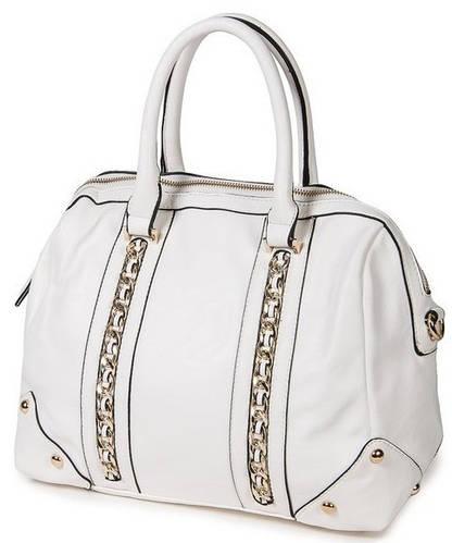 Женская модная классическая сумка искусственная кожа Bretton D-725-1 white