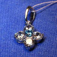 Кулон из серебра с цирконием для девушки 3174.цв-р