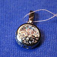 Круглый кулон с камнем в серебре для женщин Калипсо 3299-р
