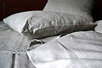 Комплект постельного белья полуторный, лен 100%