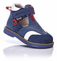 .Ортопедические туфли для мальчика 18,19,20 кожаные с закрытым носом на первые шаги Tutubi