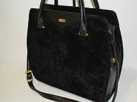 Черная замшевая сумка