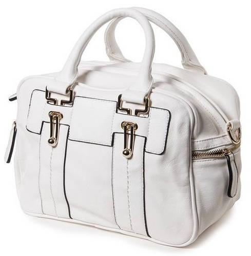 Эффектная женская классическая сумка искусственная кожа Bretton BM-8556-4 white