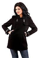 """Демисезонная черная женская куртка В - 862 """"Кашемир"""" Тон 2524/1"""