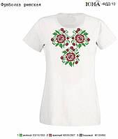 """Детская футболка с рисунком для вышивки бисером """"Розы"""""""