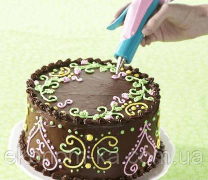 Как украшать торты шприцом фото
