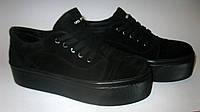 Замшевые туфли (криперсы) на толстой подошве