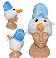 Карнавальная шапка Снеговика