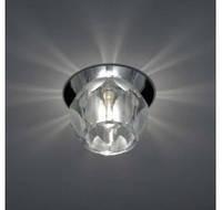 Встраиваемый светильник Feron JD161 прозрачный с матовым хром