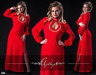 Платье макси красное разрезы