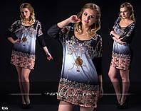 Платье-туника с красивым накатом