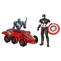 Набор фигурок Капитан Америка против киборга-броневика Альтрона. Мстители. Оригинал Hasbro