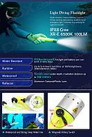 Фонарь подводный для дайвинга. Мощный светодиод CREE серии Q 3W.