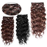 Искусственные волосы трессы на клипсах Свободная волна 60 см Lady Victory 100г LDV SHC-CW /04-51