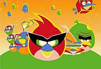 """Ковер детский """"Angry Bird"""" (энгри бёрд), серия Kids, Турция, акрил, оранжевый"""