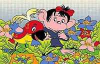 """Ковер детский """"Обезьяна и попугай"""", серия Kids, Турция, акрил,"""