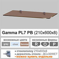 Полка из стекла Сommus PL7 PB