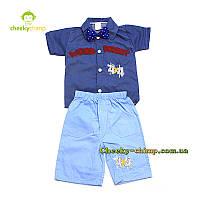 Детский нарядный костюм на мальчика (шорты, футболка)