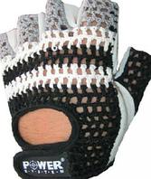 Перчатки для фитнеса Power System сетка,кожа Зебра