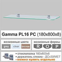 Полка из стекла Commus  PL16 PC