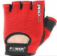 Перчатки атлетические PRO GRIP для тренажерного зала от  Power System красные