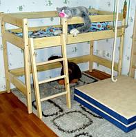 """Двухъярусная кровать-чердак из сосны """"Ирель"""" 150 см"""