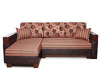 Ортопедический угловой диван Сарагоса с широкими подлокотниками