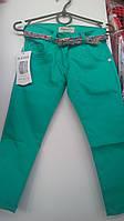 Весенние джинсы для девочки бирюза 1-5 лет