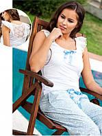 Летняя пижама с штанами и майкой