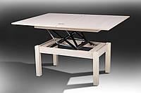 Стол-трансформер раскладной Флай деревянный дуб молочный