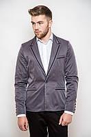 Стильный пиджак с контрастными вставками Серый