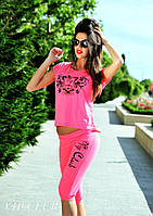 Женский летний спортивный костюм с принтом