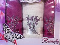 Набор полотенец два лица плюс баня Бабочка