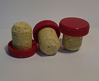 Агломерований корок для пляшок з пластиковою кришкою - червоний