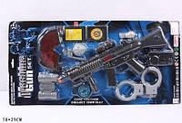 Полицейский набор для детей автомат, очки, рация, наручники,бинокль