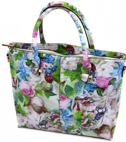 Классическая яркая женская сумка искусственная кожа 02-3 C20-2 green