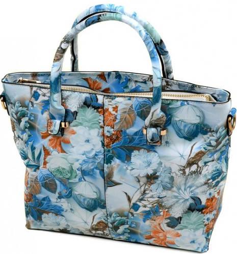 Классическая оригинальная женская сумка искусственная кожа 02-3 C20-4 blue