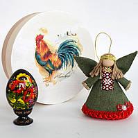 Пасхальный сувенир. Ангел и петриковская писанка