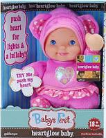 Кукла пупс Baby's First Heartglow Baby with Music & Lights со светом и звуком