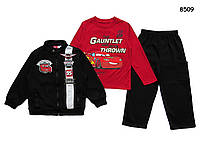 Теплый костюм Cars для мальчика, 3 предмета. 4, 5, 6, 6-7 лет