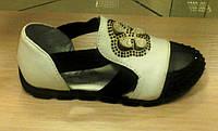 Туфли для девочки Эльф сетка черно - белые (888-2А)